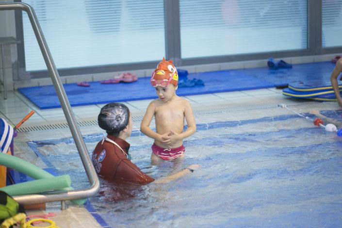 Τμήματα κολύμβησης για παιδιά από τους Ιχθείς Aqua Club - Baby Swimming Thessaloniki
